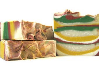 Soap Mayan Gold - sandalwood,amber, vanilla/ cold process soap/handmade soap/homemade soap/vegan gift soap