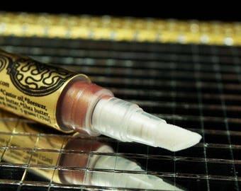 Nude Blossom GLASS CANDY liquid lip gloss organic edible hemp seed oil
