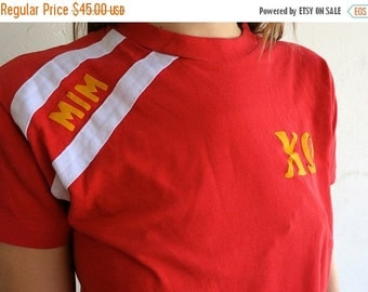 "40% OFF Red ""Sorority"" 50/50 Shirt"