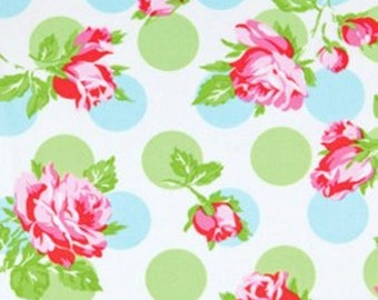 Flannel Sugar Hill Falling Roses in Blue by Tanya Whelan for Westminister Fabrics