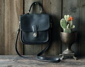 Leather Purse Crossbody Soft Thick Leather Like Dooney and Bourke Vintage From Nowvintage on Etsy