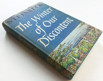 The Winter of Our Discontent by John Steinbeck . Vintage Book. First Edition.