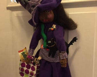HALLOWEEN~WITCH~MAEVA~hANDMADE~pRIMITIVE~uNIQUE~