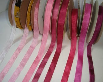 Hug Snug Rayon Seam binding 5 yards in your color choice The Pinks
