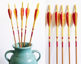 6 Vintage Archery Arrows / Instant Collection / Easy Summer Decorating