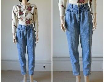 Acid Wash Jeans High Waist Tapered Leg - 26 inch waist