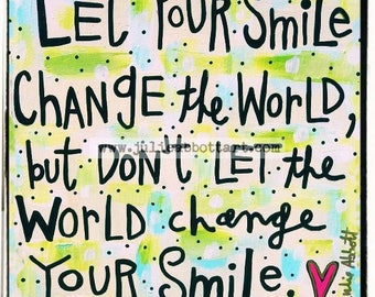 Your Smile Print on Wood Canvas