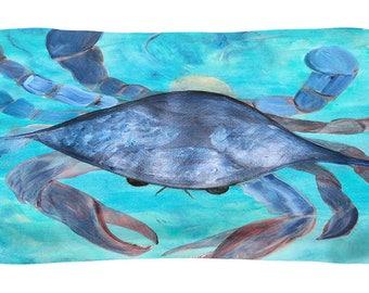 Blue crab pillow sham from art