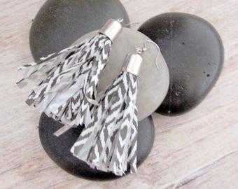 Tassel Earrings - Womens Tassel Earrings - Boho Tassel Earrings - Paper Tassel Earrings - Womens Boho Tassel Earrings - Boho Fringe Earrings