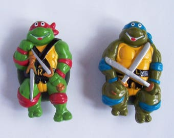 Vintage Teenage Mutant Ninja Turtles Magnets 1988 Mirage Studios, inc., made by Hope Industries inc