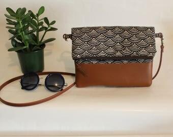 Foldover Crossbody Bag, Simple CrossBody Bag, JULIA CrossBody Purse, Every day Purse, Handbag, Brown Crossbody Bag, Boho Bag, Gifts for 50
