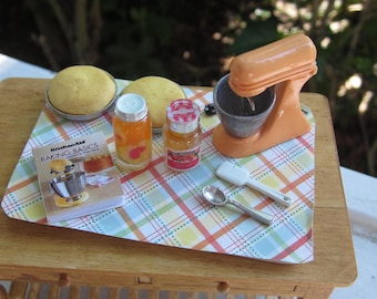 Orange and Peach Cake Prep Board