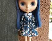 Sweet Little Girl dress for Blythe - Navy