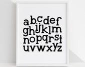 Alphabet DIY Printable Digital Wall Art Prints - childrens bedroom kids playroom nursery home decor - 5 sizes - 3 colors