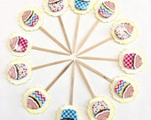 Glittery Stars. American Flag. Memorial day. Fourth of July. Labor Day. Star party. Veterans Day - Cupcake Toppers