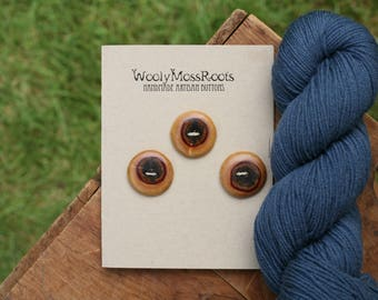 3 Lilac Wood Buttons- Lilac Wood- Wooden Buttons- Eco Craft Supplies, Eco Knitting Supplies, Eco Sewing Supplies