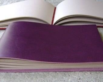 "Guest book / sketchbook / journal, approx. 5.5""x 8.5"", purple, landscape journal (2579)"