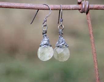 Faceted Moss Earrings