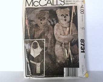 Vintage McCalls 8731 Return of the Jedi -  Star Wars Ewok Wiket Costume size Extra Small