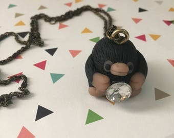 Niffler Polymer Clay Necklace - Harry Potter - Fantastic Beasts - Ready to Ship