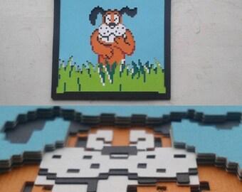 Duck Hunt Dog 8-bit Layered Paper Art