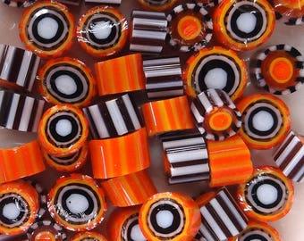 COE 104 Duos Tangerine Pop murrini by Lori and Kim