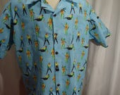 Star Trek Kirk vs Gorn  Mens Shirt Custom your size.