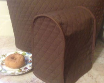 One Brown French Press or Food Chopper Cover Sewn and Ready to Ship