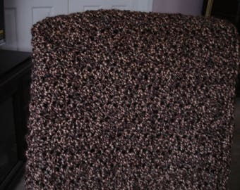 Chocolate Brown/Caramel Afghan Throw Blanket