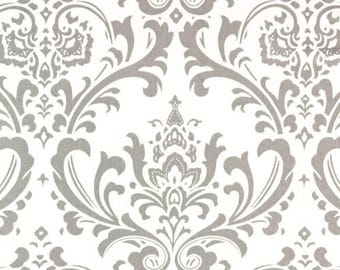 Traditions grey and white, Two fold French pleat drapes, cotton drapes, French pleats, lined pleated drapes,