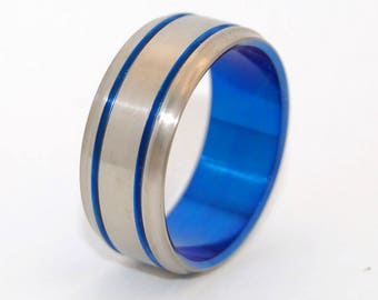 wedding rings, titanium rings, wood rings, men's ring, women's ring, unique wedding ring, engagement rings, commitment ring - BE A MAN