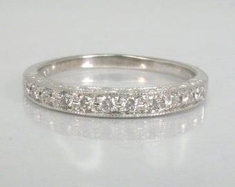 Vintage Diamond Wedding Ring - 0.25 Carats Diamond Total Weight