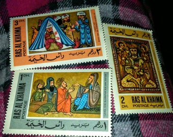 Collection of 1967 Arabic Artists Stamps- Ras Al Khaima