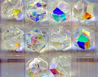 Swarovski Crystal  AB Beads, 12mm, Art  5007 Vintage B3012