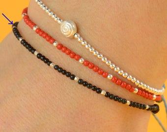 Tiny black  bracelet
