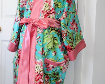Maternity Hospital Nursing Robe in Megan- Coordinate as a Delivery Robe with your Hospital Gown-Great for Hospital and Recovery- Ships Fast!