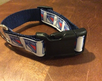 Adjustable New York Rangers Dog Collar