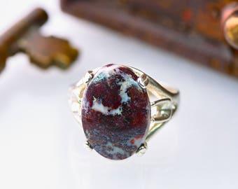 Handmade Sterling Campbellite Ring - Rare American Gemstone