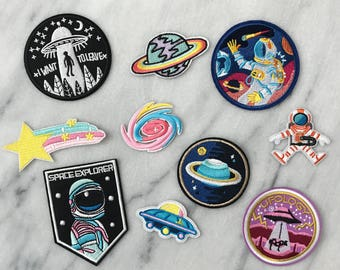 Space Explorer - Set of 10 Embroidered Patches