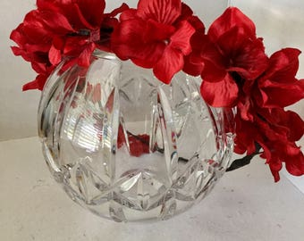ON SALE Red Flower Crown, Fabric Flower Wreath, Festival Hair Accessory, Geranium Wreath, Christmas Wedding, Fairy Crown, Bridal Party