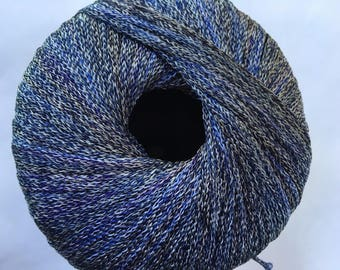 Lang Yarns Opal-Color #35 Blue Black Shiny Lightweight Woven 50gr 168y