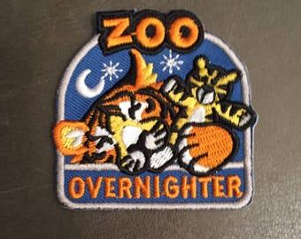 Zoo Overnighter Tiger Stuffed Tiger Merit Badge Zoo Snooze Giraffe Pillow Patch