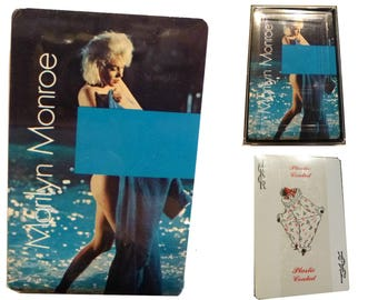 Marilyn Monroe Playing Cards. Sealed Unopened Deck. Plastic Case. Made by US Playing Card Company. Something's Got To Give. Vintage.