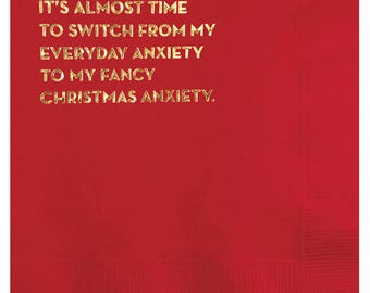 anxiety napkins. #591