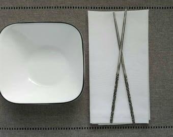 Metal Chopsticks - Hand Forged, decorative chopsticks, steel chop sticks, Asian inspired gift