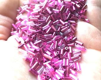 Supplies - Beads - Tube / Bugle Beads - Pinks