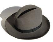 Vintage Knox Fedora Gray Felt Fur Hat Sz 7
