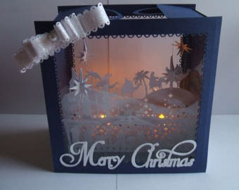 Nativity Luminaire Block. SVG,Cricut,ScanNCut,Cameo,Silhouette,MTC,SCAL