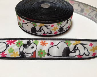 3 Yards of Ribbon - Snoopy Flower Power