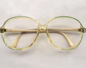 80s Vintage French Le Reve Green Womens Eyeglasses
